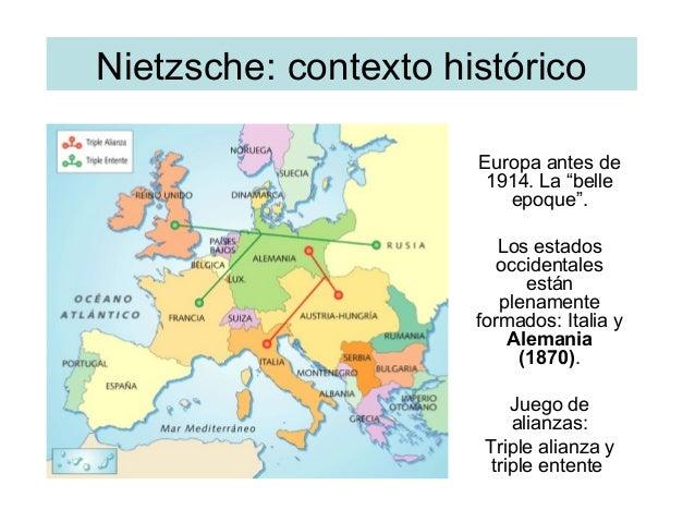 """Nietzsche: contexto histórico Europa antes de 1914. La """"belle epoque"""". Los estados occidentales están plenamente formados:..."""