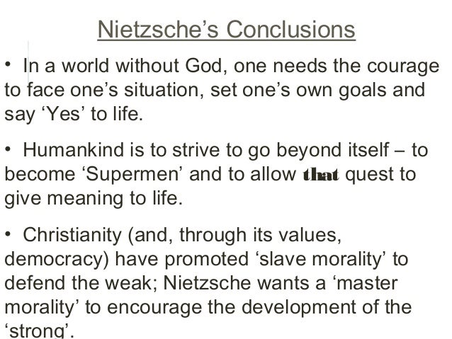 A comparison of the philosophies of slave morality and master morality