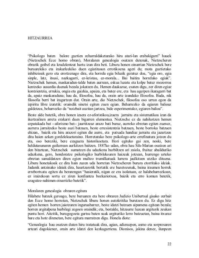 """HITZAURREA""""Psikologo baten balore guztien zeharraldaketarako hiru atari-lan erabakigarri"""" hauek(Nietzschek Ecce homo obran..."""