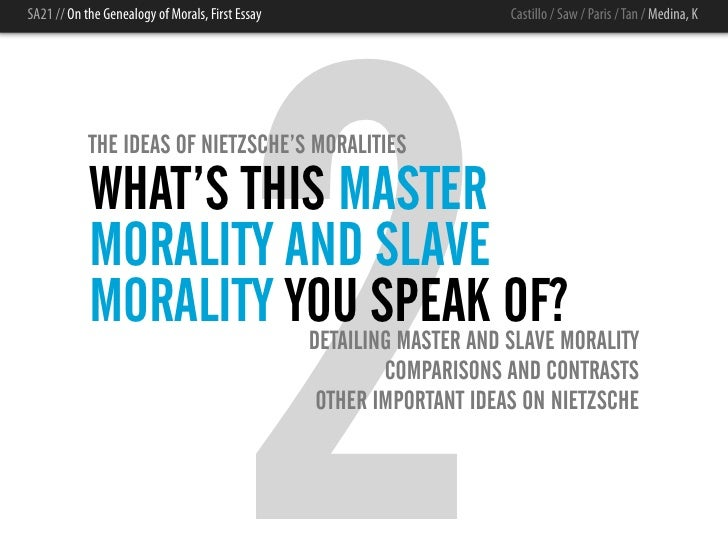 "master morality and slave morality by friedrich nietzsche In this essay, we look at friedrich nietzsche's master-slave morality dichotomy, his archaeological approach to getting to the roots of what is meant by ""good"" or ""bad"", the rise in."