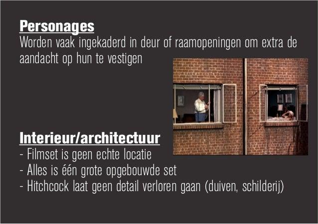 PersonagesWorden vaak ingekaderd in deur of raamopeningen om extra deaandacht op hun te vestigenInterieur/architectuur- Fi...