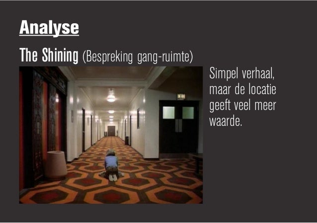 AnalyseThe Shining (Bespreking gang-ruimte)                                       Simpel verhaal,                         ...