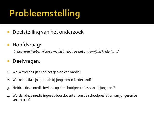 Nieuwe media in het onderwijs pp def Slide 3