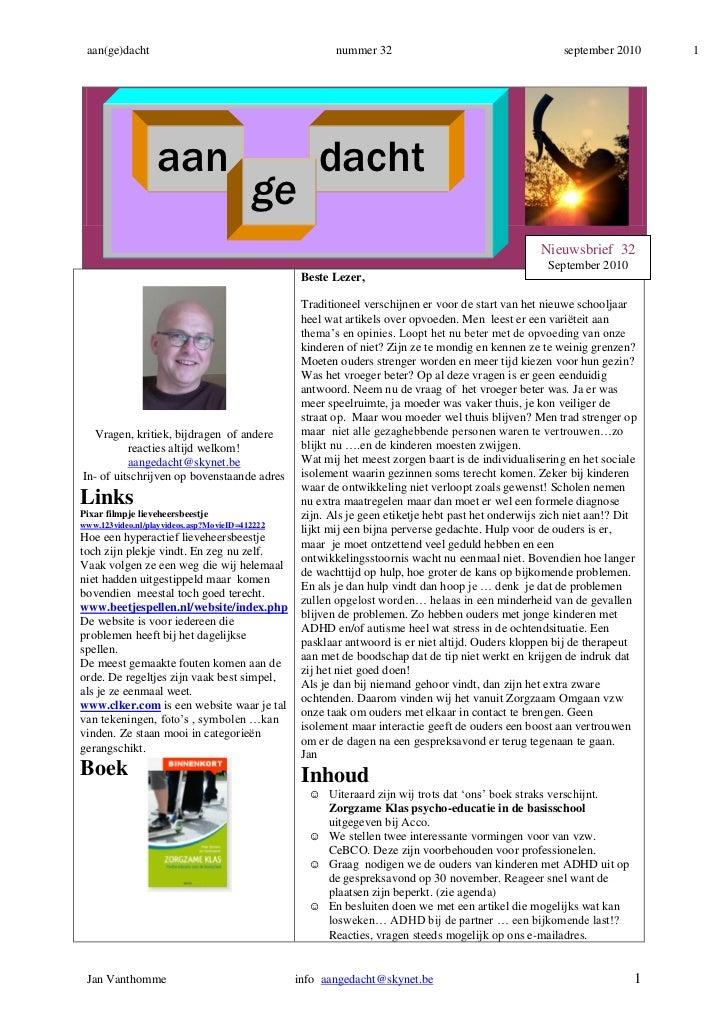 aan(ge)dacht                                           nummer 32                                      september 2010     1...