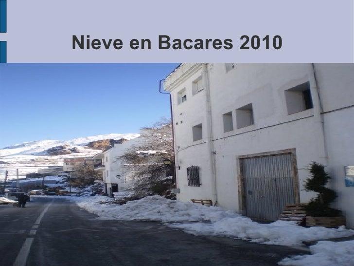 Nieve en Bacares 2010 <ul><li>Guadalinfo </li></ul>