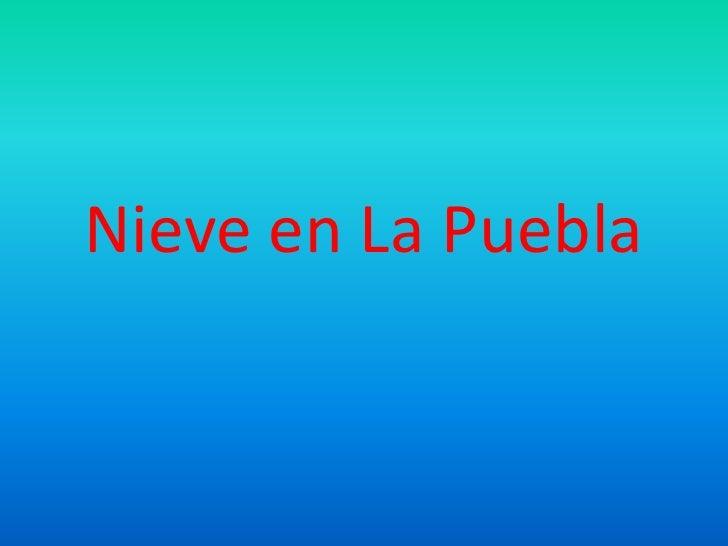 Nieve en La Puebla