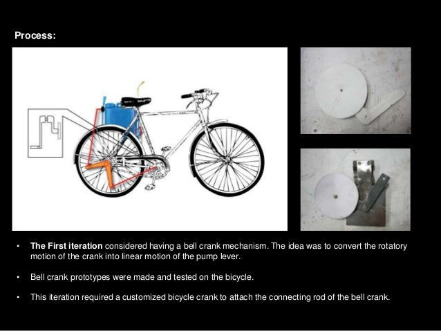 The cycle mounted pesticide sprayer