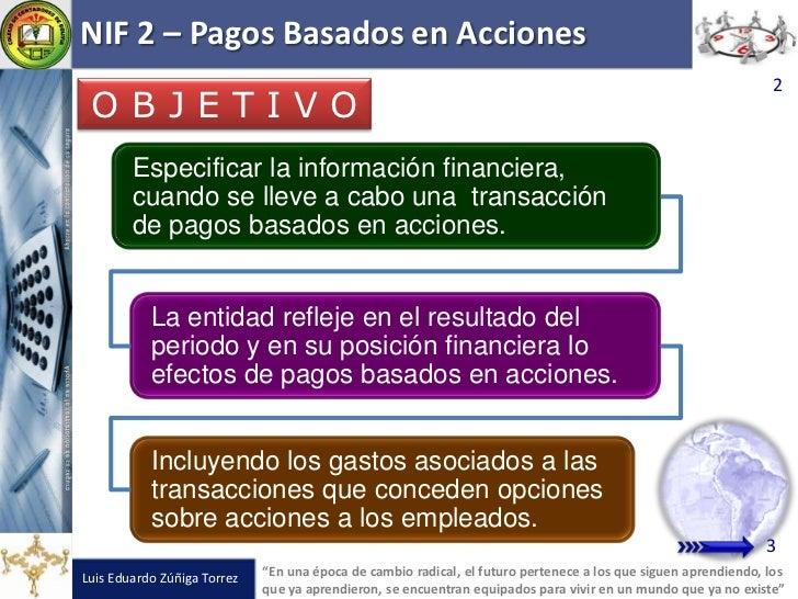 NIF 2 Pagos Basados en Acciones Slide 2