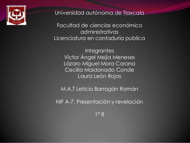 Universidad autónoma de Tlaxcala Facultad de ciencias económico administrativas Licenciatura en contaduría publica Integra...