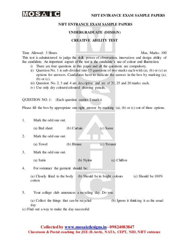 cat 2015 sample paper pdf