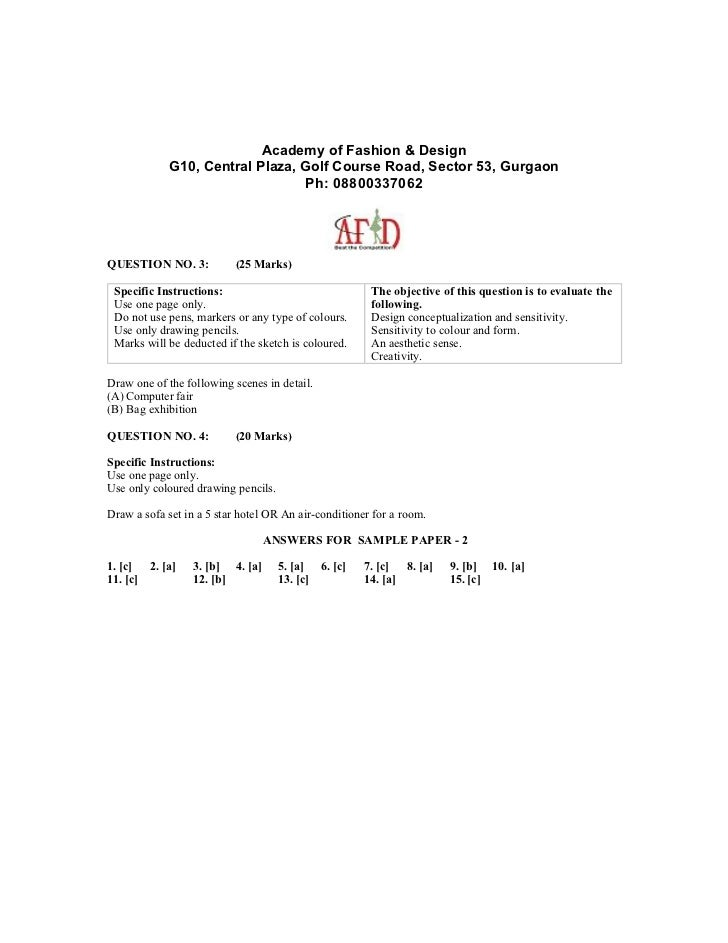 Nift Ug Design Cat Sample Paper2