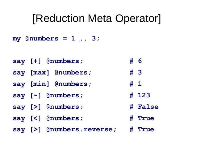 X product – Meta Operatormy@suits=<    >;♣ ♢ ♡ ♠my@ranks=2..10,<JQKA>;my@deck=@ranksX~@suits;my@han...
