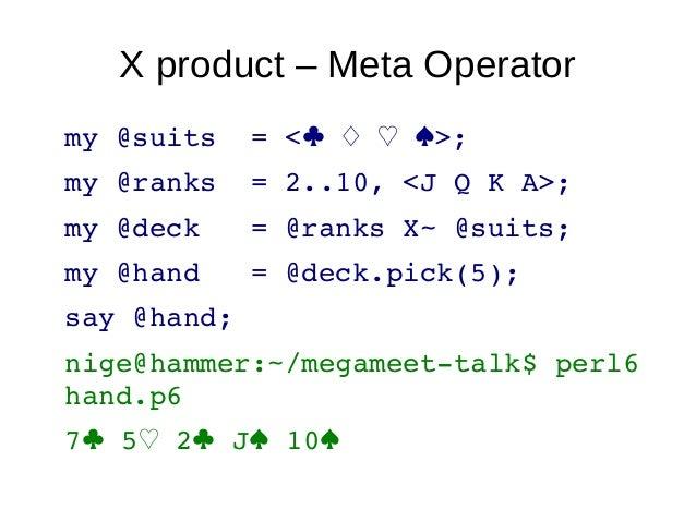"Whipupitudemulti sub MAIN (Int $number-of-nodes) {say ""deploy to: $number-of-nodes nodes"";}nige@hammer:~/megameet-talk$ pe..."