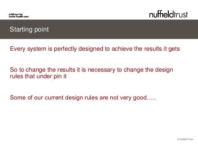 Redesigning Care Nigel Edwards