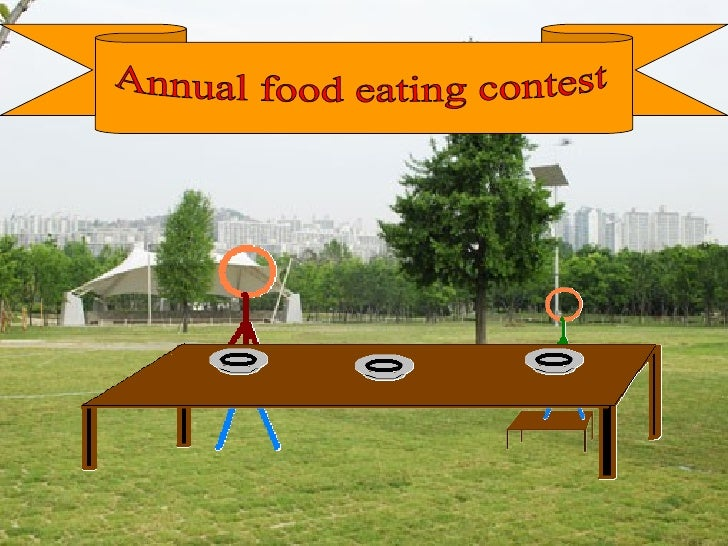 Annual food eating contest