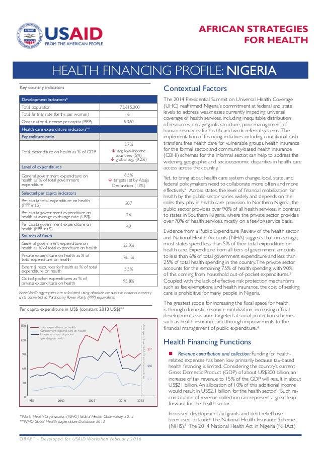 Health Financing Profile Nigeria