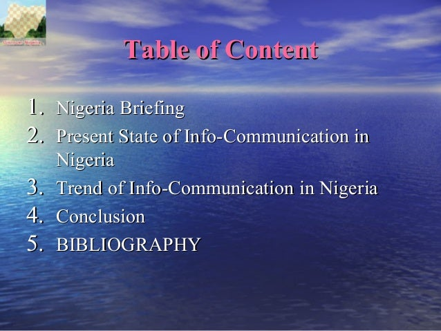 telecommunication in nigeria essay Mtn nigeria communication limited is a subsidiary of a south african owned  multinational telecommunication group by name mtn group the birth of mtnn .