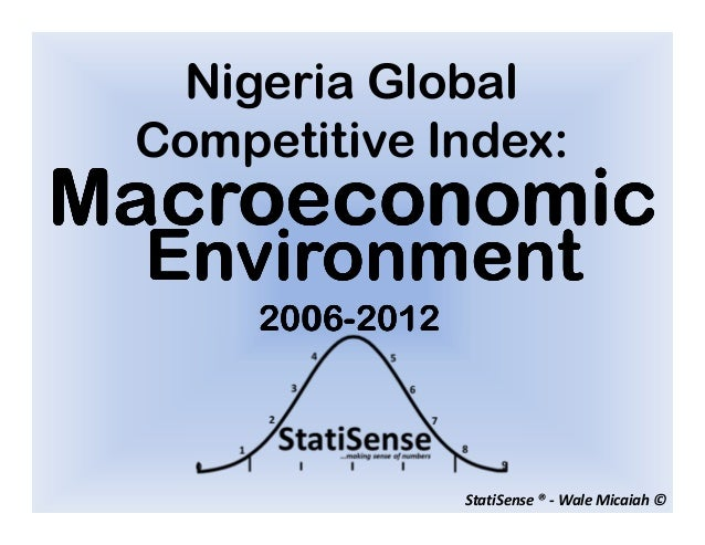 Nigeria Global Competitive Index:Macroeconomic  Environment      2006-      2006-2012                  StatiSense ® - Wale...