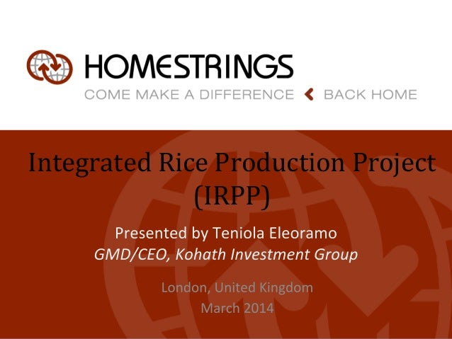 Integrated Rice Production Project (IRPP)