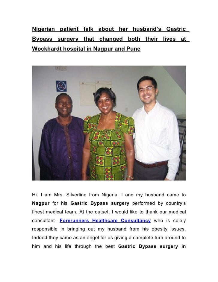 Nigerian patient talk about her husband's Gastric Bypass surgery that changed both their lives at Wockhardt hospital in Na...