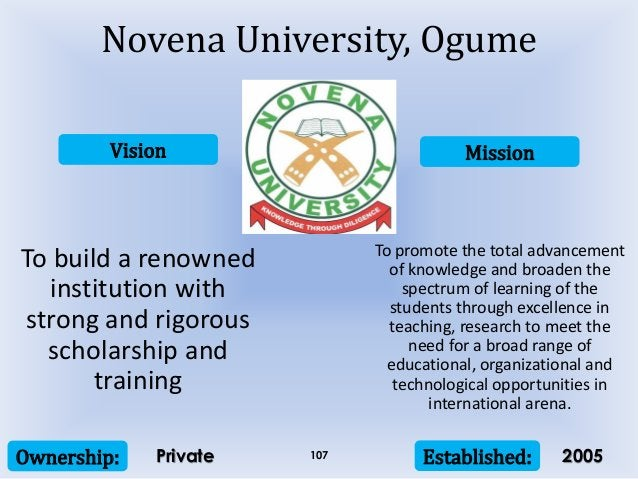 Vision Mission Ownership: Established:107 To build a renowned institution with strong and rigorous scholarship and trainin...