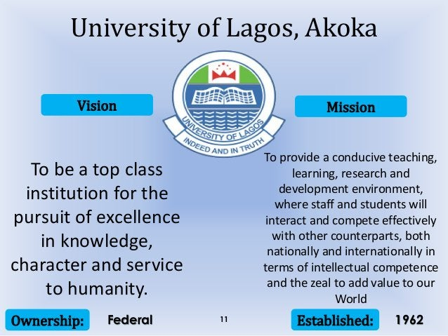Vision Mission Ownership: Established:11 To be a top class institution for the pursuit of excellence in knowledge, charact...