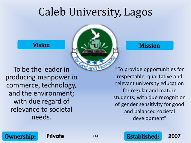 Vision Mission Ownership: Established:114 To be the leader in producing manpower in commerce, technology, and the environm...