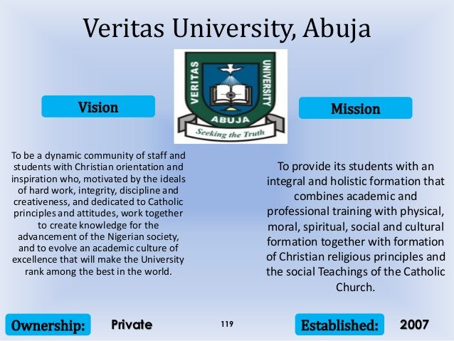 Vision Mission Ownership: Established:119 To be a dynamic community of staff and students with Christian orientation and i...