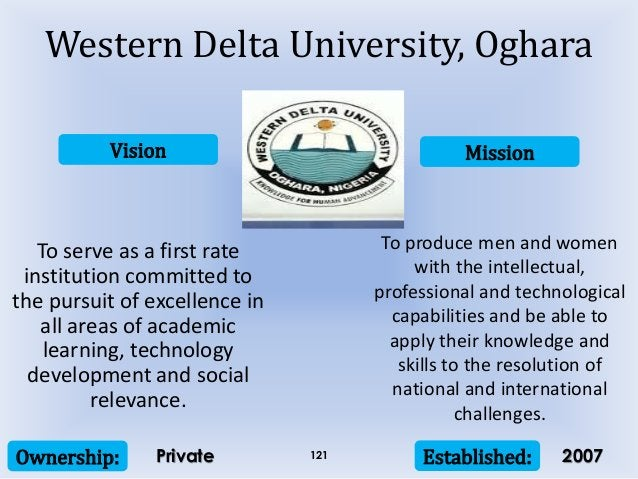 Vision Mission Ownership: Established:121 To serve as a first rate institution committed to the pursuit of excellence in a...