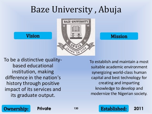 Vision Mission Ownership: Established:130 To be a distinctive quality- based educational institution, making difference in...