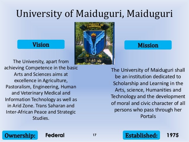 Vision Mission Ownership: Established:17 The University, apart from achieving Competence in the basic Arts and Sciences ai...