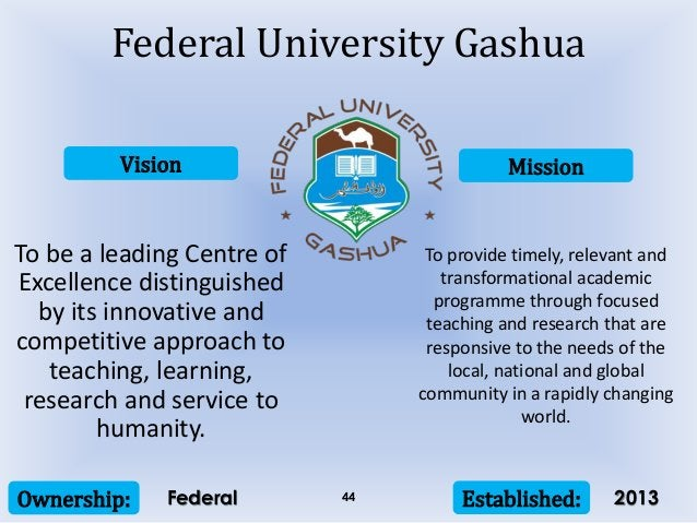 Vision Mission Ownership: Established:44 To be a leading Centre of Excellence distinguished by its innovative and competit...