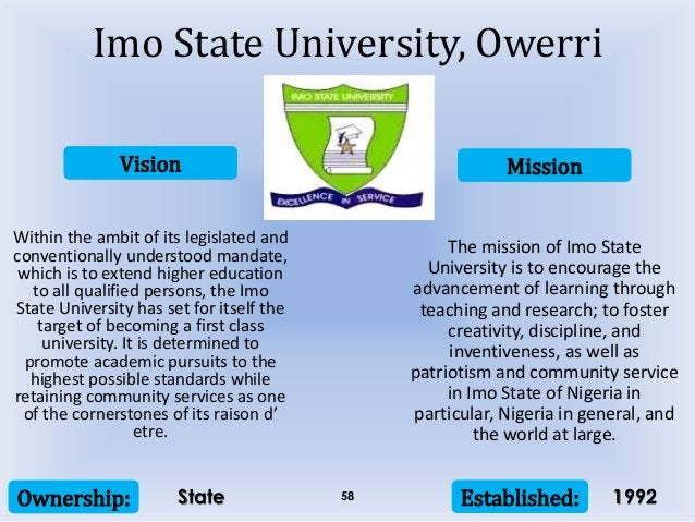 Vision Mission Ownership: Established:58 Within the ambit of its legislated and conventionally understood mandate, which i...