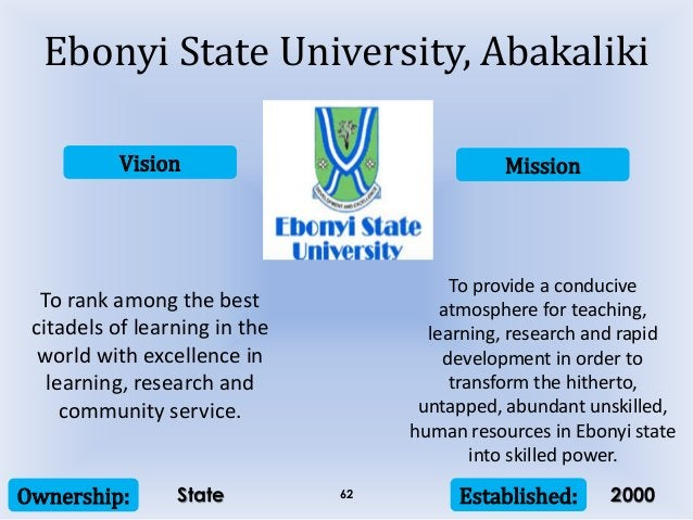 Vision Mission Ownership: Established:62 To rank among the best citadels of learning in the world with excellence in learn...