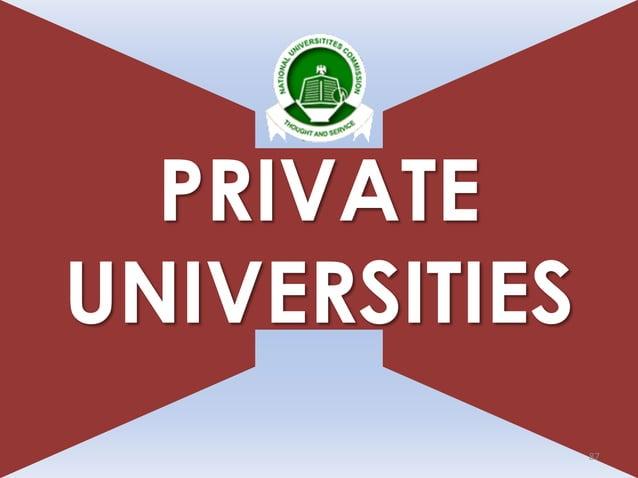 PRIVATE UNIVERSITIES 87