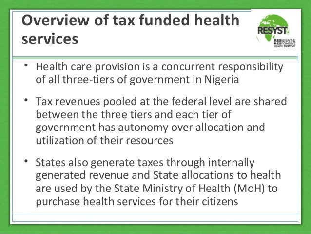 revenue allocation system in nigeria pre Taxation, revenue allocation, and fiscal federalism in nigeria 29 2 nigeria's tax system 21 tax type and tax jurisdiction the assignments of fiscal instrument in.