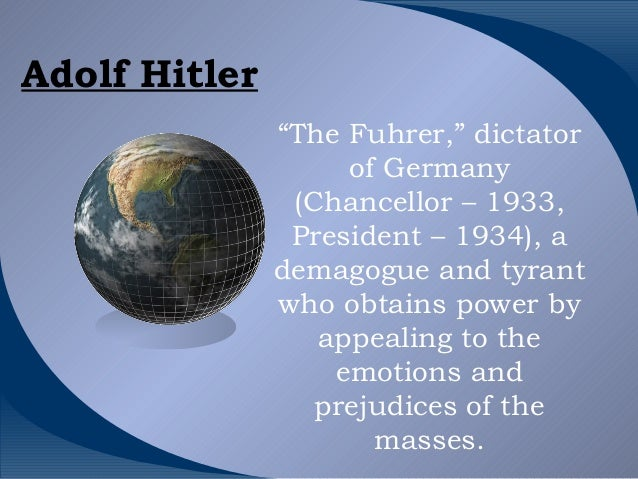 an analysis of the nationalism devised by adolph hitler in the germany Fascism analysis stanley g payne homework help  in germany, adolf hitler soon became head of state as well as head of government in italy, king victor emmanuel iii, and not mussolini.