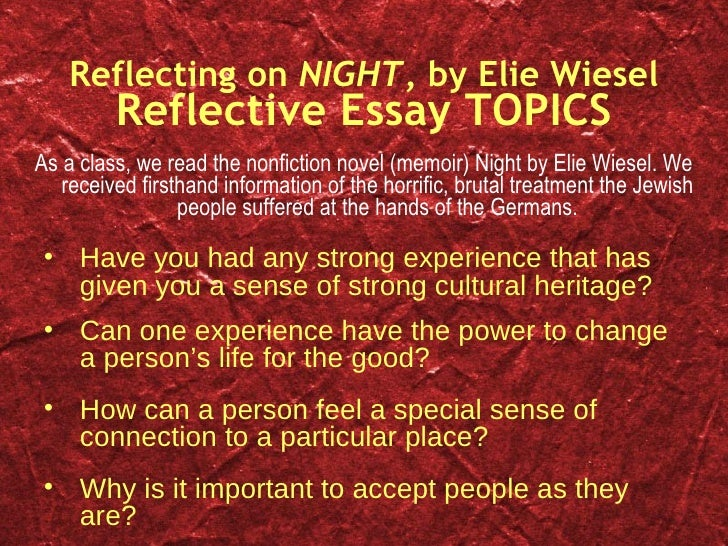 Important Themes in Elie Wiesel s Book  Night ENGLISH II DeLong