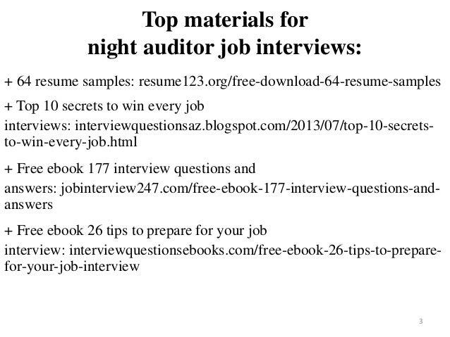 Night Auditor Resume Sample Pdf Ebook Free Download