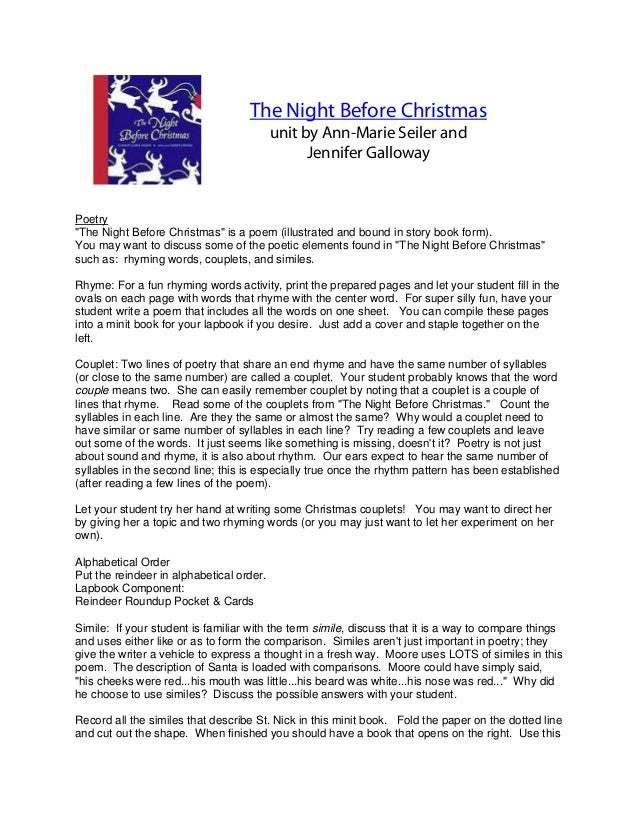 The Night Before Christmas; 2.