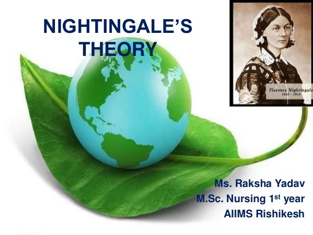 florence nightingale s environmental theory Download citation | nightingale's enviro | this author extracts the environmental theory from florence nightingale's writings and recorded experiences as nightingale's experiences broadened to other cultures and circumstances, she generated an ever-widening commitment to redress unjust socia.