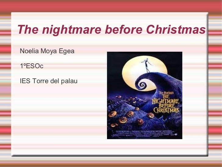 The  nightmare   before   Christmas <ul><li>Noelia Moya Egea