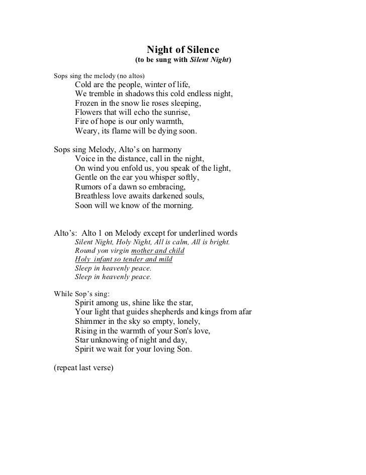 Nor the Silent Whispers Lyrics