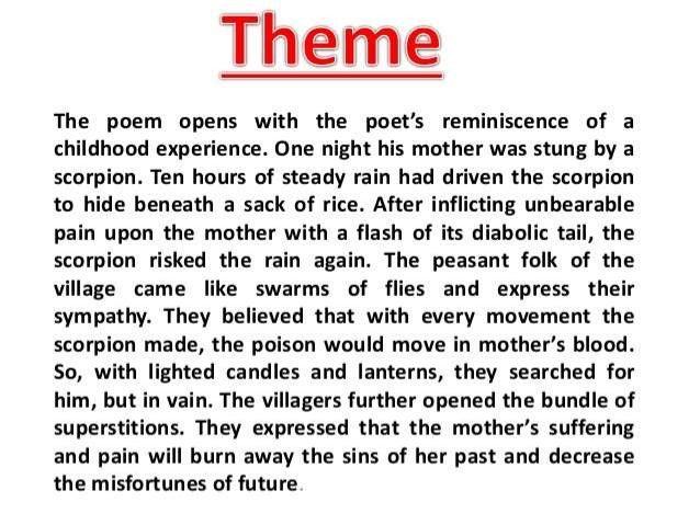 night of the scorpion essay by nissim ezekiel