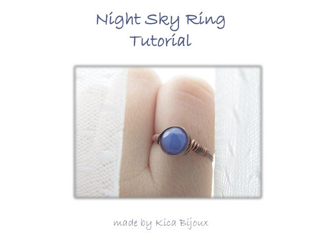 Night Sky Ring Tutorial  made by Kica Bijoux