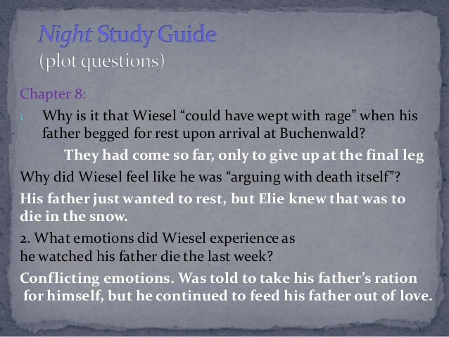 Night Study Guide Questions - Efford's Excellent English ...