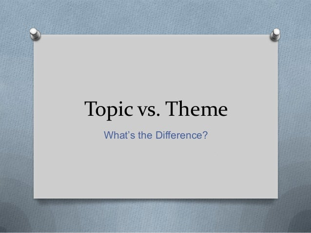 Topic vs. Theme What's the Difference?