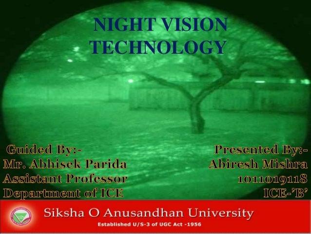 NIGHT VISION TECHNOLOGY