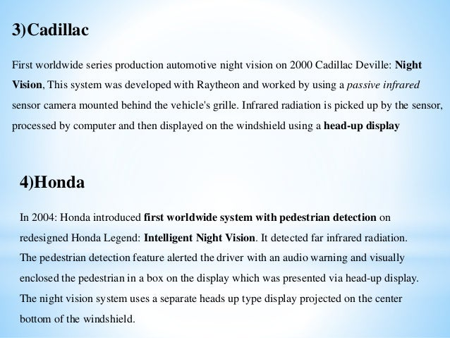 Night Vision Technology In Auto Mobiles