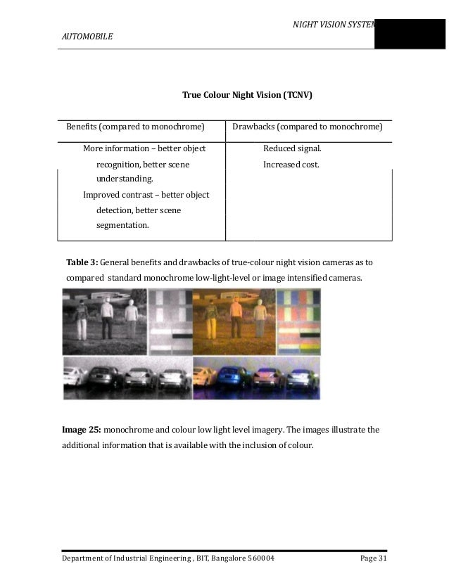 night vision technology in automobiles pdf